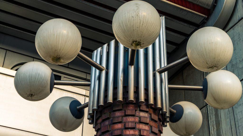 lampe exterieur ronde design